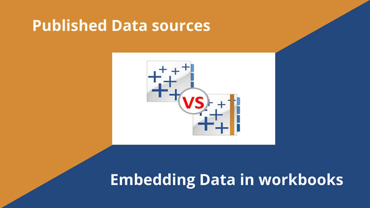 Embedding Data in workbooks Vs Published Data sources