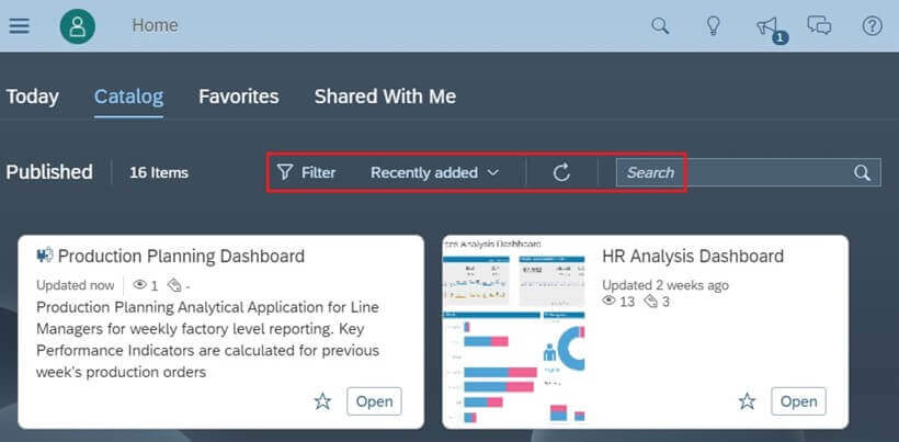 How to leverage Content Catalog in SAP Analytics Cloud?