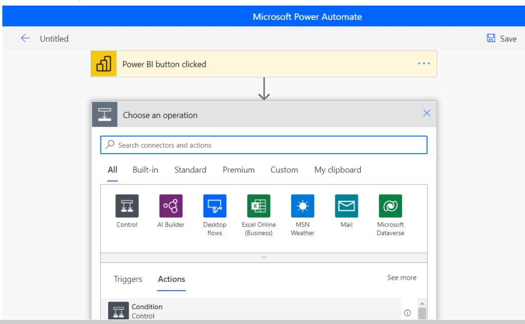 Power Automate Visual in Power BI