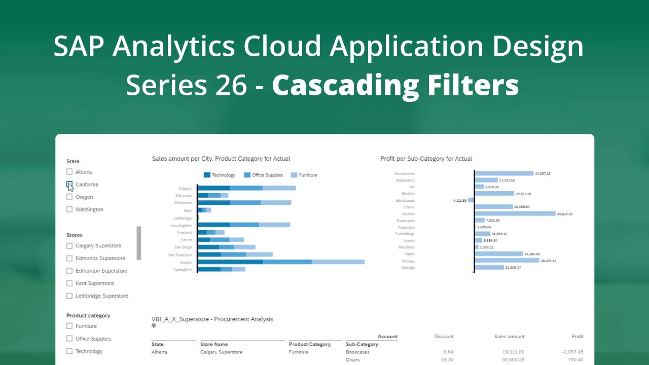 SAP Analytics Cloud – Application Design Series 26 – Cascading Filters
