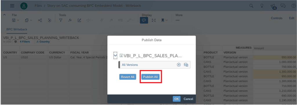 SAP Analytics Cloud – BPC Embedded Live Planning (connecting to BW/4HANA)