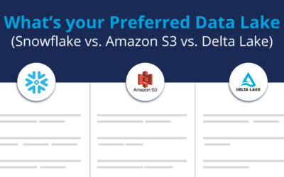 What's your Preferred Data Lake ? (Snowflake vs. Amazon S3 vs. Delta Lake)