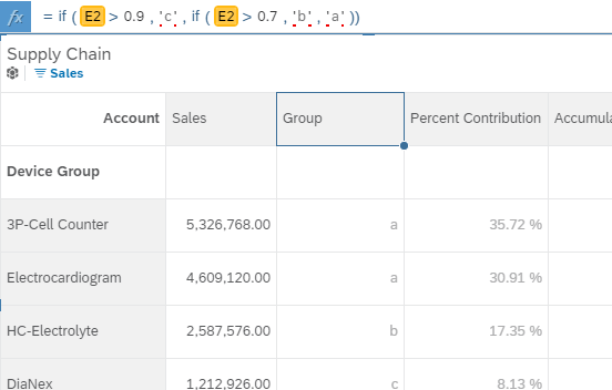 Working with Excel Spreadsheets in SAP Analytics Cloud